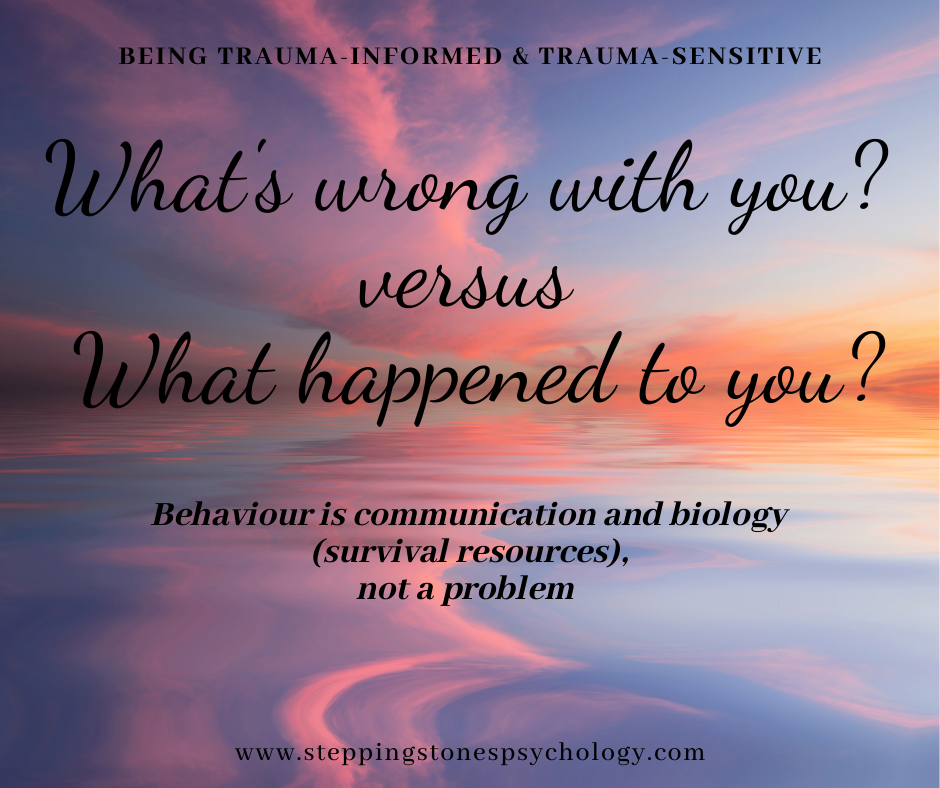 What are trauma-informed and trauma-sensitive services?